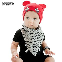 2020 New Baby Boys and Girls Hat Newborn Baby Cotton Skullies Love mama print Caps Hats For Baby Kids Knitted Beanies Cap BH022