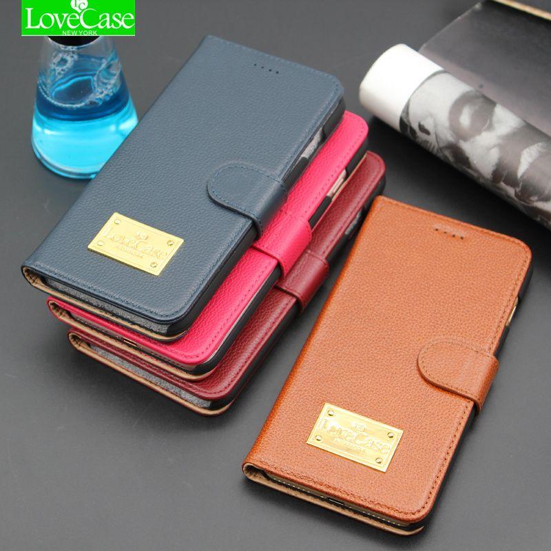 LoceCase Portefeuille Flip Cas de Couverture pour iPhone 8 8 Plus 100% véritable Mode En Cuir Téléphone Housse pour iphone 8 Plus titulaire cas