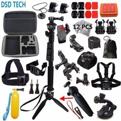DSD TECH for Gopro hero 5 session accessories black Extendable Handheld Monopod Mini Tripod for sjcam sj4000 for xiaomi yi4k S12