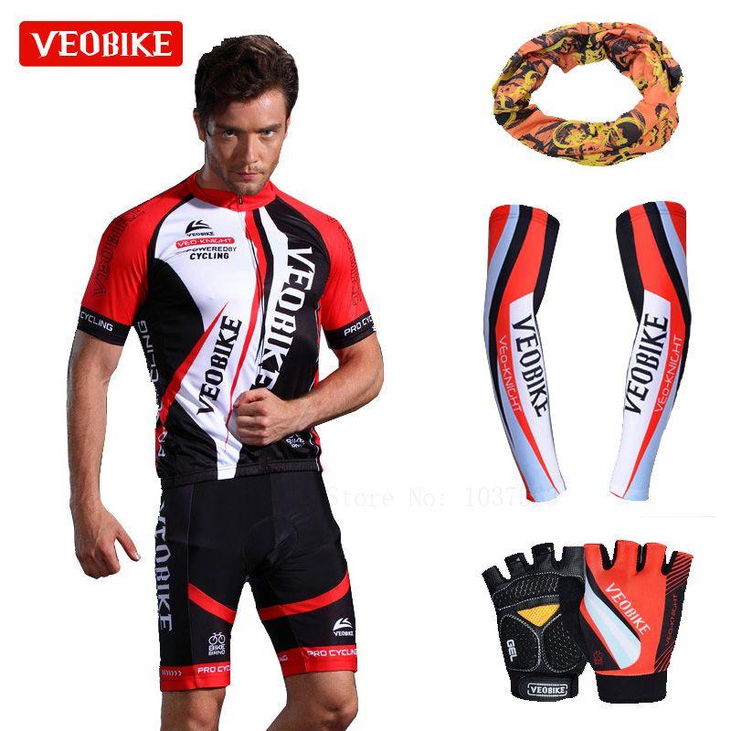VEOBIKE 2018 Pro Hommes Cycling Jersey Set Respirant VTT Vêtements À Séchage Rapide De Sport D'été De Vélos Bike Jersey Ropa Ciclismo