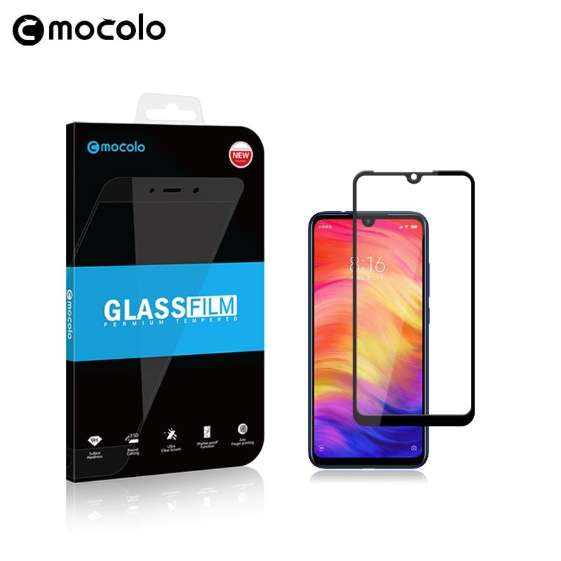 Film en verre de première qualité Mocolo pour Xiaomi Redmi Note 7 protecteur d'écran couverture complète pour Note 7 PRO Film en verre trempé pour Redmi 7