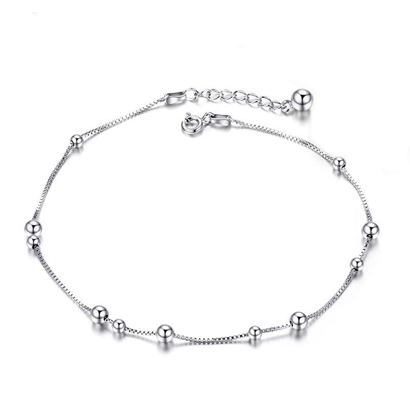 Sinya 925 Sterling silver Anklets Bracelet for women girls lover Valentine's Day gift 22cm+3.5cm Length 2017 New arrival
