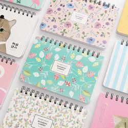 Flamingo ilustrador planificador semanal aprendizaje eficiencia libreta calendario bobina libro papelería