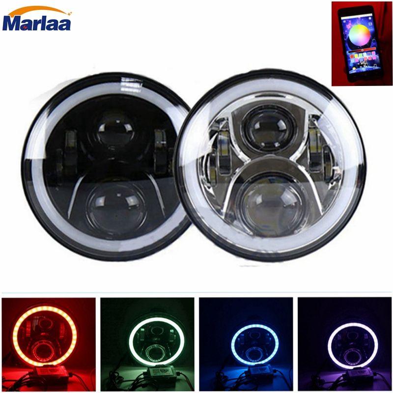 7 inch LED RGB Full Halo Headlights for Honda CB400 CB500 CB1300 Hornet 250 600 900 VTECVTR250