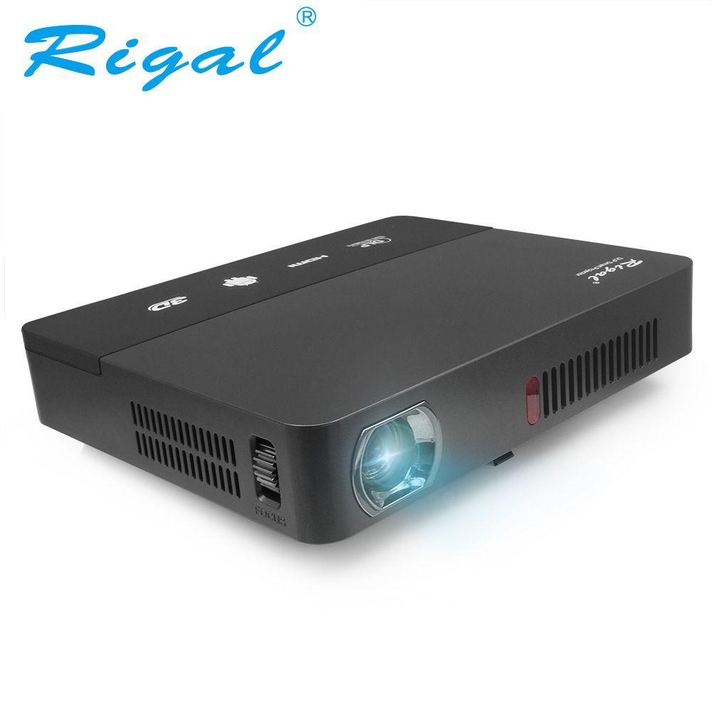 Rigal проектор RD601 со встроенной батареей Android 4.4 WIFI LED MINI DLP проектор 3D Miracast Bluetooth домашний кинотеатр п