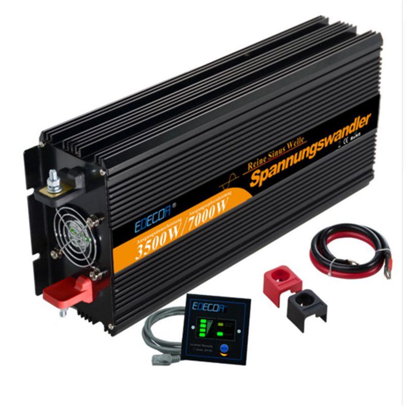 EDECOA reine sinus-wechselrichter solar inverter 12 v 3500 watt/7000 watt peak ac zu dc power inverter freies verschiffen