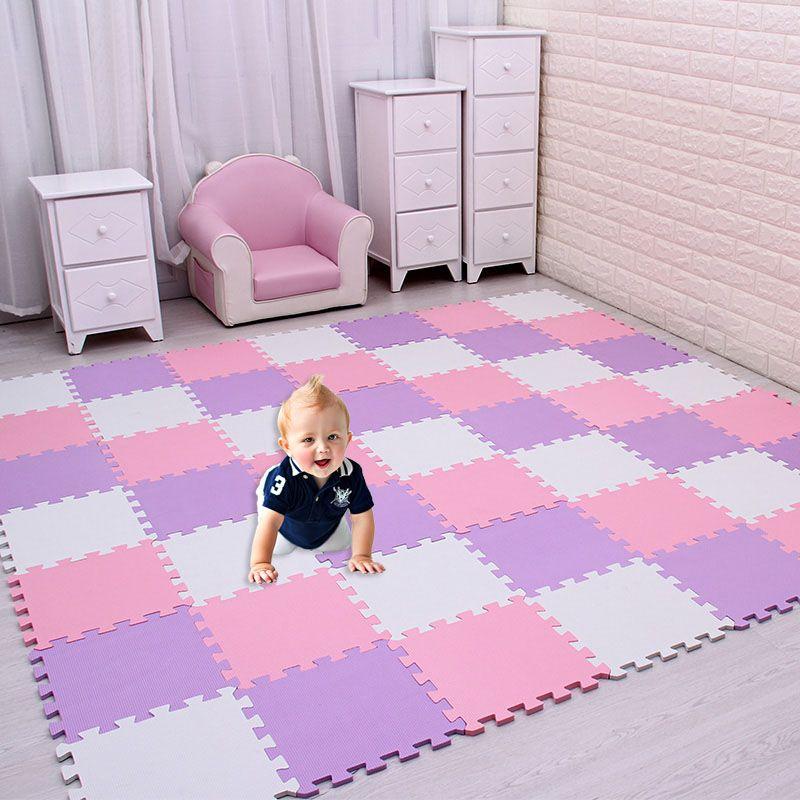 18 pc/ensemble Bébé EVA Mousse de Puzzle tapis de jeu/enfants Tapis Jouets tapis pour enfants en Exercice Carreaux De Sol, chaque: 29 cm X 29 cm