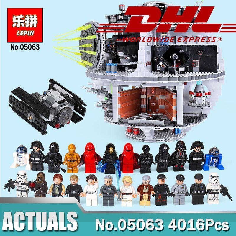 LEPIN 05063 4016pcs Star Plan Series Force Waken UCS Death Star Building Block Bricks Toys Kits Compatible Legoinglys 75159