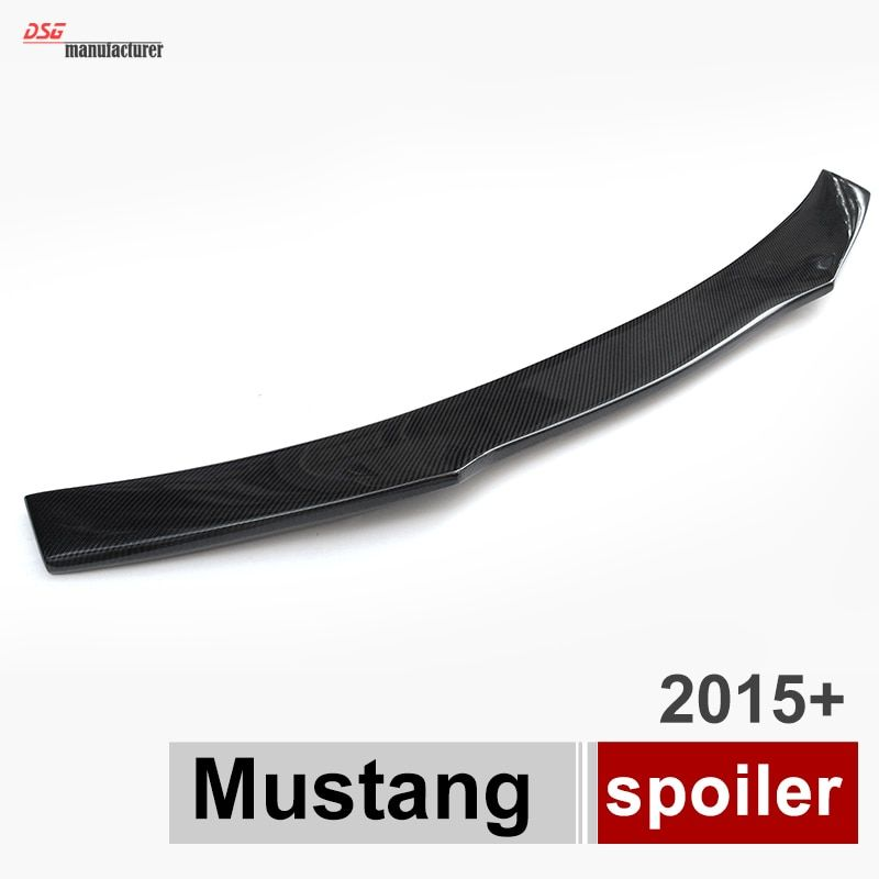 Mustang Carbon Fiber Rear Trunk Spoiler Wing For Ford Mustang 2015 - Present 2-Doors Coupe Cabriolet Lip Spoiler Wing
