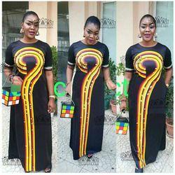2018 Ukuran (L-3XL) afrika Dashiki Baru Dashiki L Desain Fashion Super Elastis Pesta Ukuran untuk Wanita (Cpwh #)