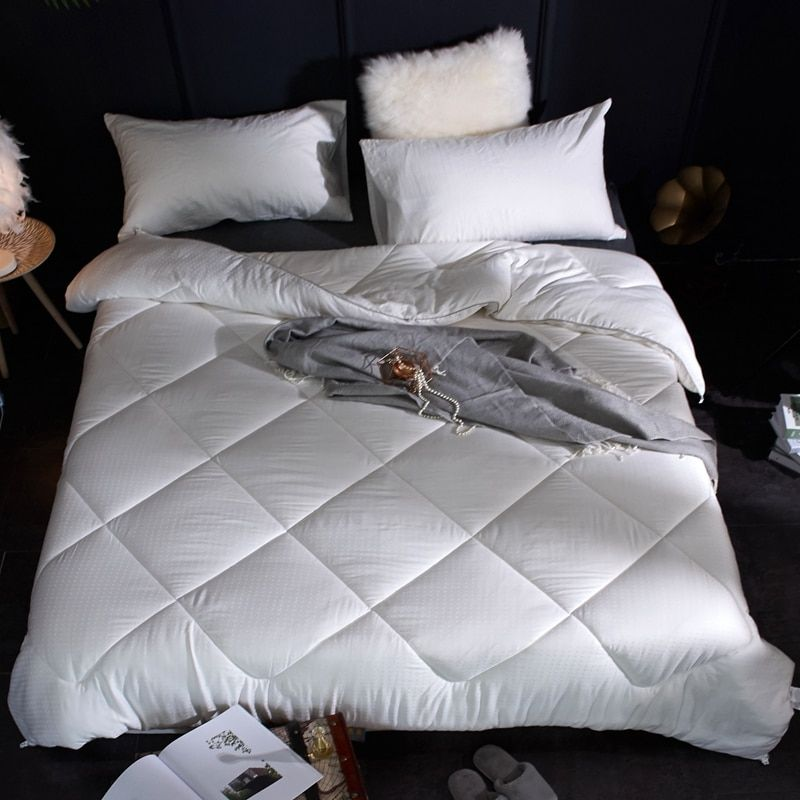 3Pcs Queen/King Size 100% Cotton Thick Comforter Bedding set Pillows Adults Kids Throw Blanket Quilt For Winter/Autumn/Spring