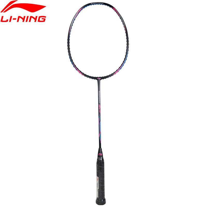 Li Ning Turboaufladung 9II Täglichen Professionelle Badminton Schläger Einzigen Schläger Futter Sport Schläger AYPM324 ZYF246
