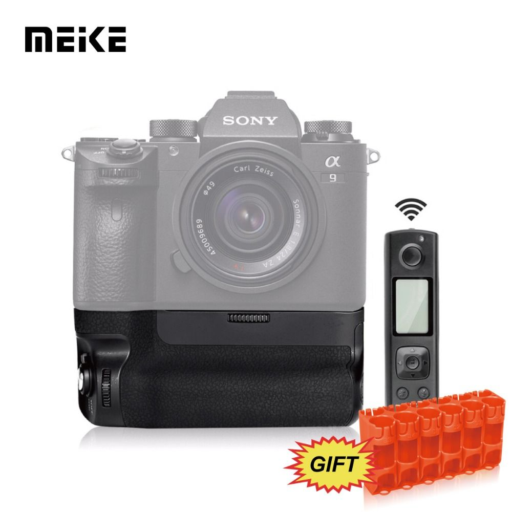 MK-A9 PRO Battery Grip with 2.4GHz Remote Controller Up to Control shooting Vertical-shooting Function for Sony A9 A7RIII A7III
