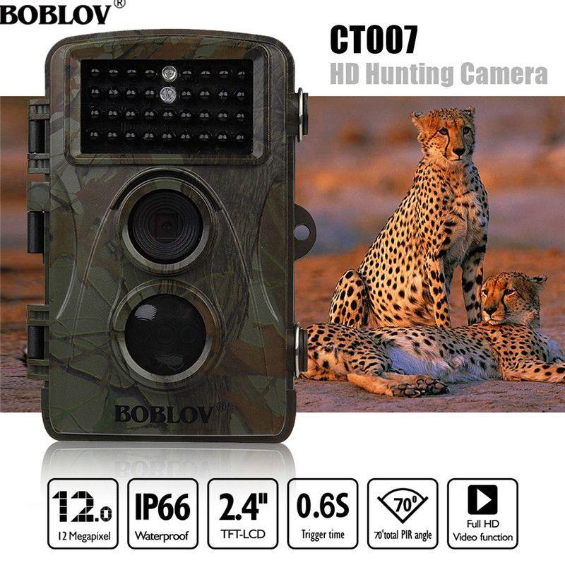 BOBLOV CT007 HD 1080P 12MP Hunting Camera Scouting Trail Camera Game Wildlife IR LED Night PIR Motion Detection 0.6S TriggerTime