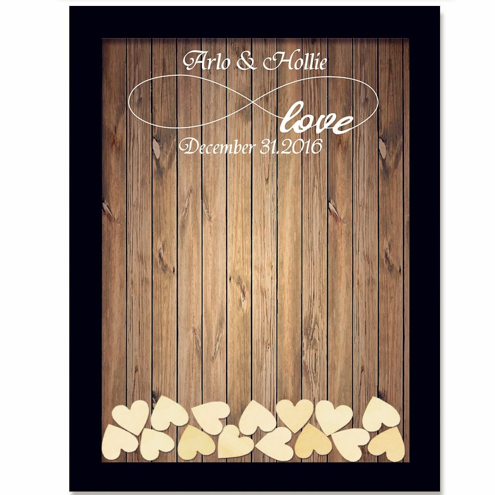 Wedding Guest Book Wedding Decoration Rustic Sweet Wedding Guestbook 120pcs <font><b>Small</b></font> Wood Hearts