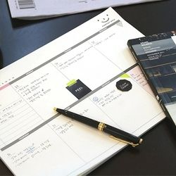 Corée Papeterie Bureau Bureau Semaine Plan. peut déchirer de travail memo. A4 grand calendrier ce. bloc-notes