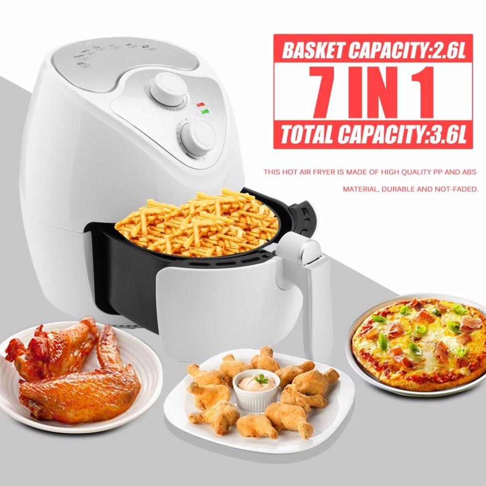 1300W Multifunctional 360 Degrees Hot Air Circulation Fryer Machine Deep Smokeless Non-stick Fryer Oven Cooker EU Plug