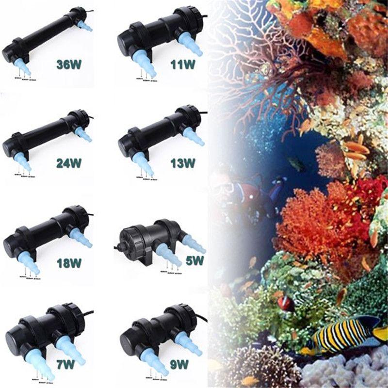 JEBO AC110V-220V 5W-36W Aquarium Pond UV Sterilizer Lamp Fish Tank Ultraviolet Filter Clarifier Light Water Cleaner