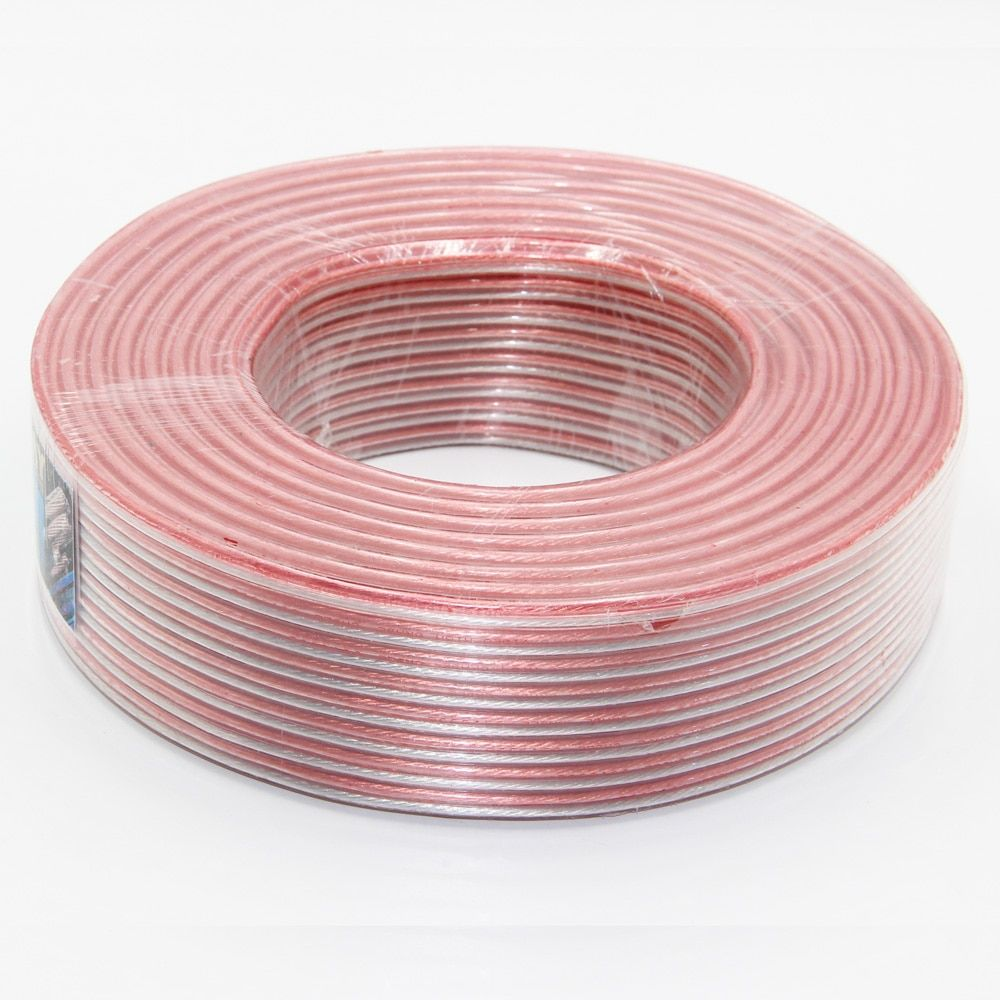 DHL/FEDEX Shipping 1 Roll(100m) LoudSpeaker Audio Cable OFC Pure Copper+Tinned Copper 200wires/Core 300Wires/Core