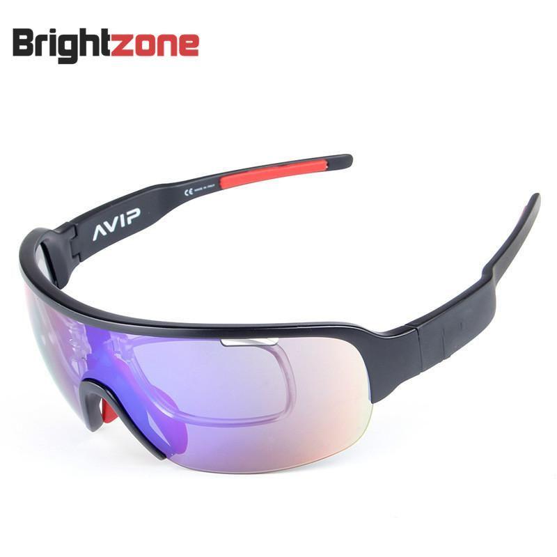 2 lentilles et 5 lentilles haute qualité demi-cadre multifonction extérieur Sport Biccycle lunettes de soleil polarisées pare-soleil