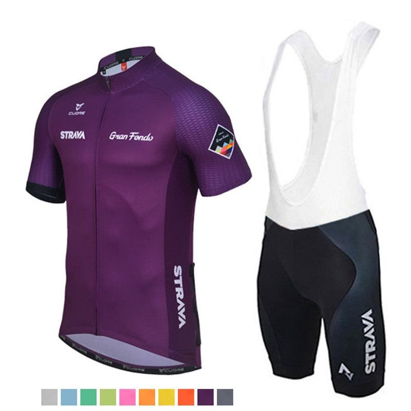 Pro Bicycle Racing Team Short Sleeve Maillot Ciclismo Men's Cycling Jersey Kits Summer breathable Cycling Clothing Sets #DTZ-053