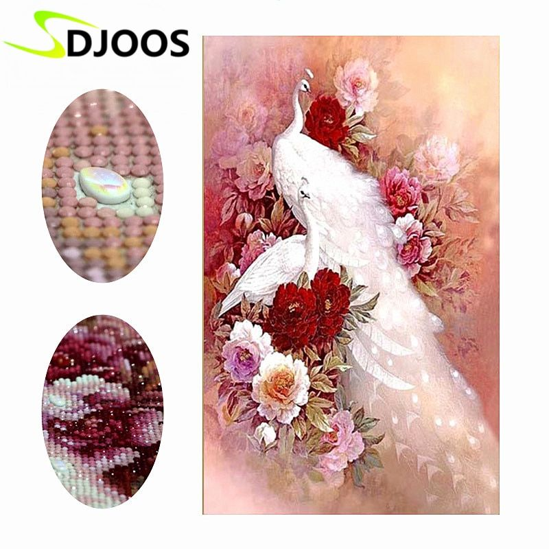 5d Peacocks Mosaic Diamond Painting With Crystal Pictures by numbers Of Rhinestones Embroidery Diamond Painting Kit Cross Stitch