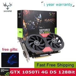 Красочные видеокарты NVIDIA GeForce GTX 1050Ti 1050 ti GPU 4GB GDDR5 128bit для настольных компьютеров, чем 960 750Ti