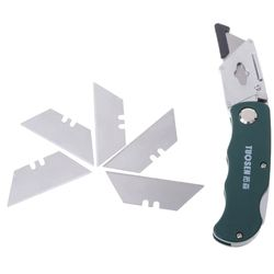 Fournitures scolaires En Acier Inoxydable Pliage Utilitaire Couteau de Camping En Plein Air avec Cinq Lames
