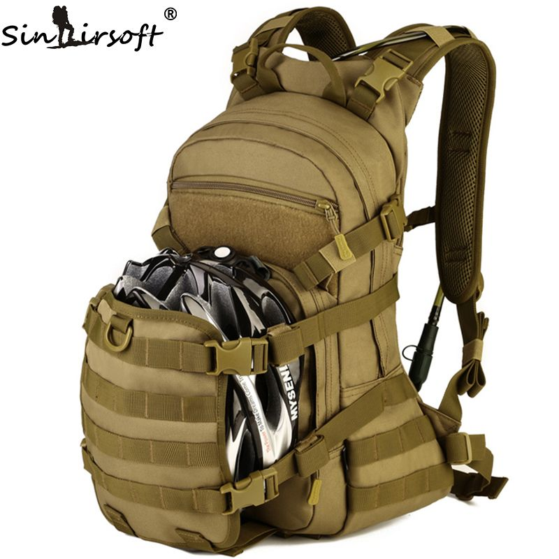 SINAIRSOFT Outdoor Military Tactical Rucksack Trekking Sport Reise 25L Nylon Camping Wandern Rucksack Camouflage Armee EDC Tasche