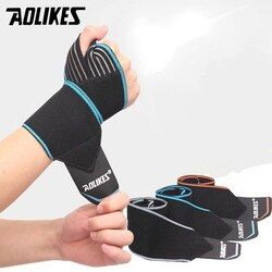 AOLIKES 1pc Sports Wrist Band Wrist Support Strap Wraps Hand Sprain Wraps Bandage Fitness Training Safety Hand Bands  Belt