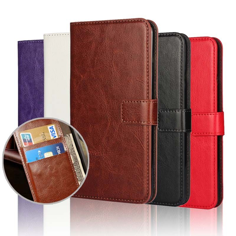 For Huawei P9 Lite Case Cover Huawei P9 PU Leather Saddle Flip Wallet Case for Huawei P9 Lite Phone Coque Fundas Custodia