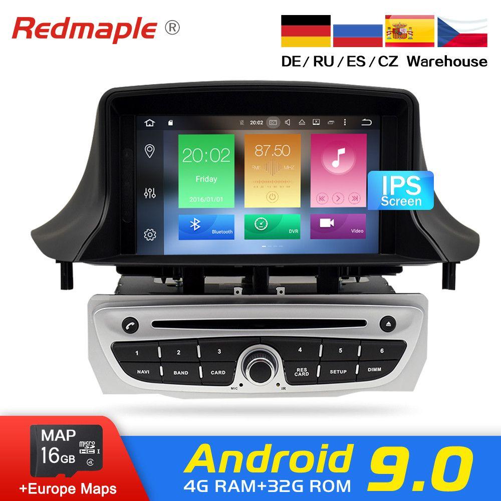 IPS Bildschirm Android 9.0 Auto Radio DVD-Player Multimedia Stereo Für Renault Megane 3 Fluence 2009-2015 Audio Auto GPS navigation