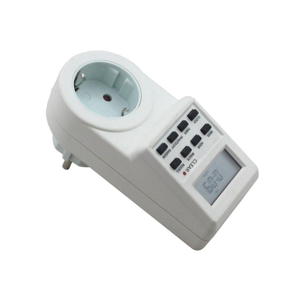 Nouvelle arrivée Plug-in Programmable Minuterie Interrupteur Prise avec Horloge L'heure D'été Aléatoire Fonction UE Plug expédition de baisse libre