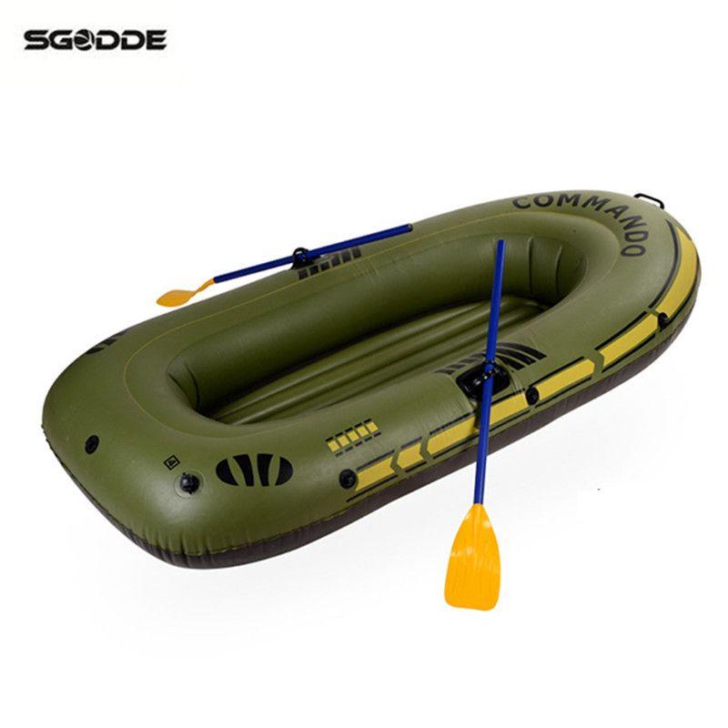 1/2/3- 4 Inflatable Boat Fishing Raft Boat PVC kayak Rowing Boat Paddle Oar Pump Seat Cushion Bag Rubber Protable Boat