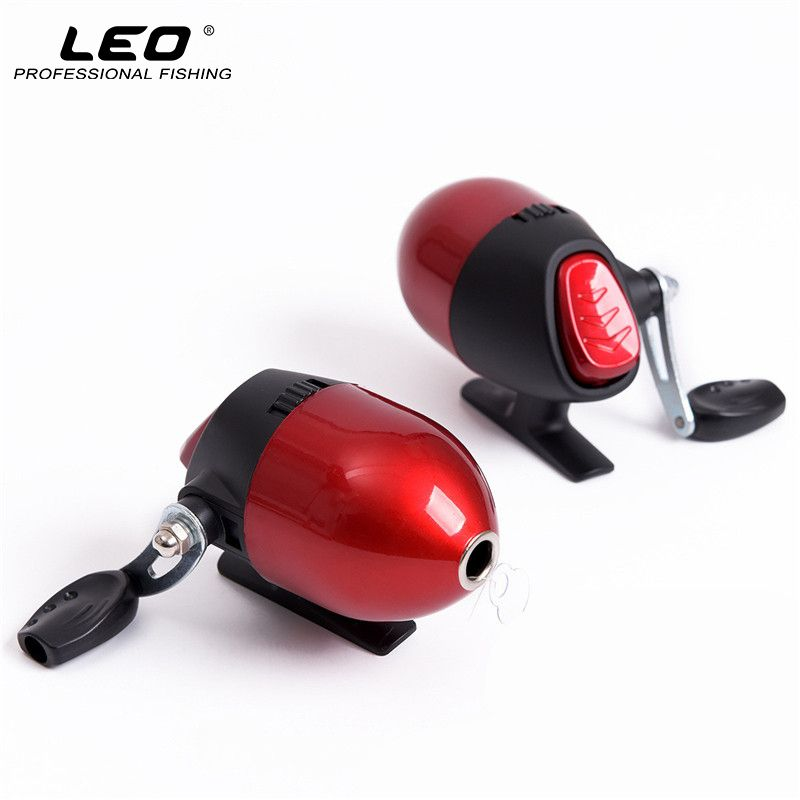 LEO Closed Fishing Reels with 3# Line 50m Spincast Reel for Shooting Fish Crossbow Slingshot Fishing Tackle Accessories