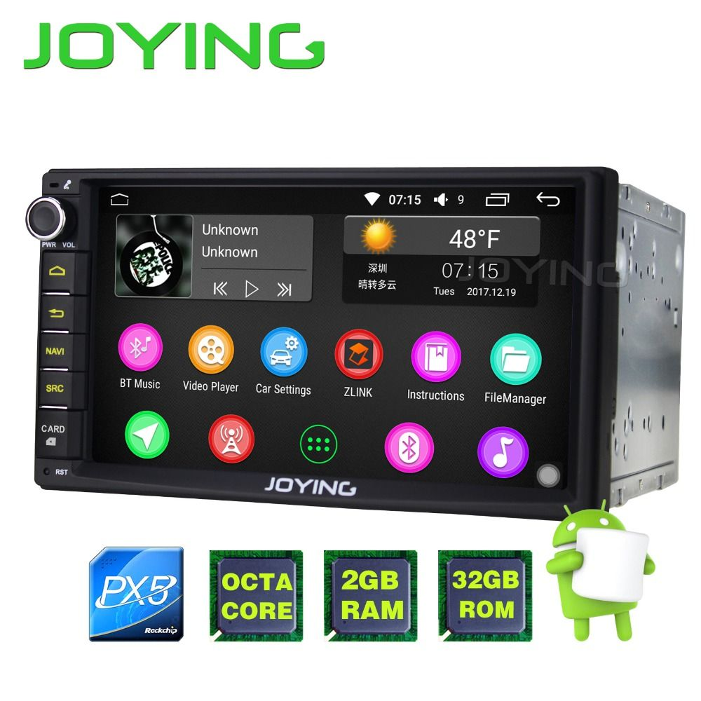 JOYING 2G + 32G Android 6.0 PX5 Octa Core Universal Car Audio Stereo GPS Navigation Doppel 2 Din 1024*600 Autoradio Android auto