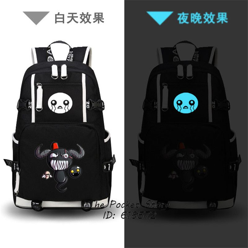 High Quality Hot Game The Binding of Isaac/The Binding of Isaac Rebirth Printing Laptop Backpack Canvas School Bags Travel Bags