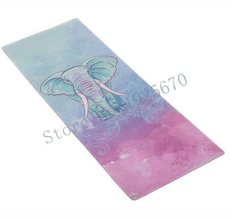 Folding Natural Rubber Yoga Mat eco-friendly slip-resistant Hot Yoga best yoga mat for hot yoga Fitness Gym mat elephent