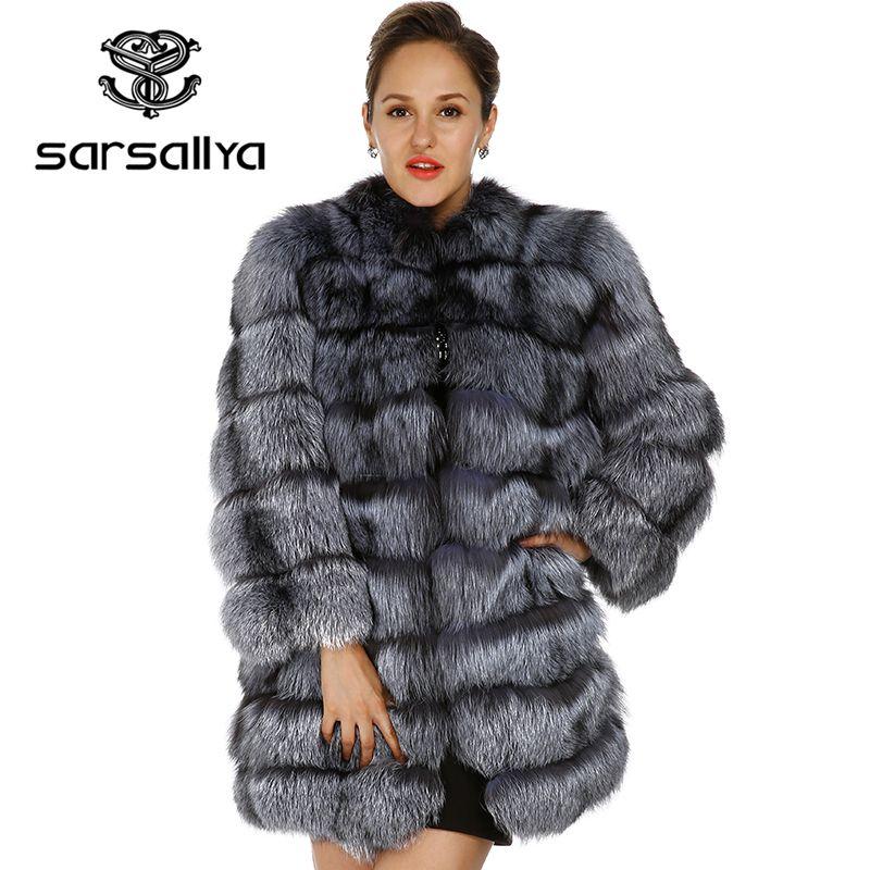 SARSALLYA 2016 new real fox fur coat mink coats women winter jacket women Free shipping real fur coat