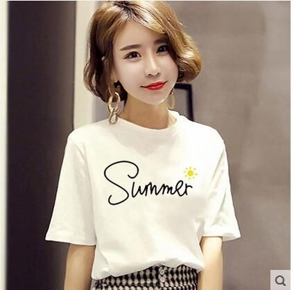 Tshirt Women Letter T-shirts Printing Funny Tee Shirt For Female Top Clothes Short Sleeve Tees
