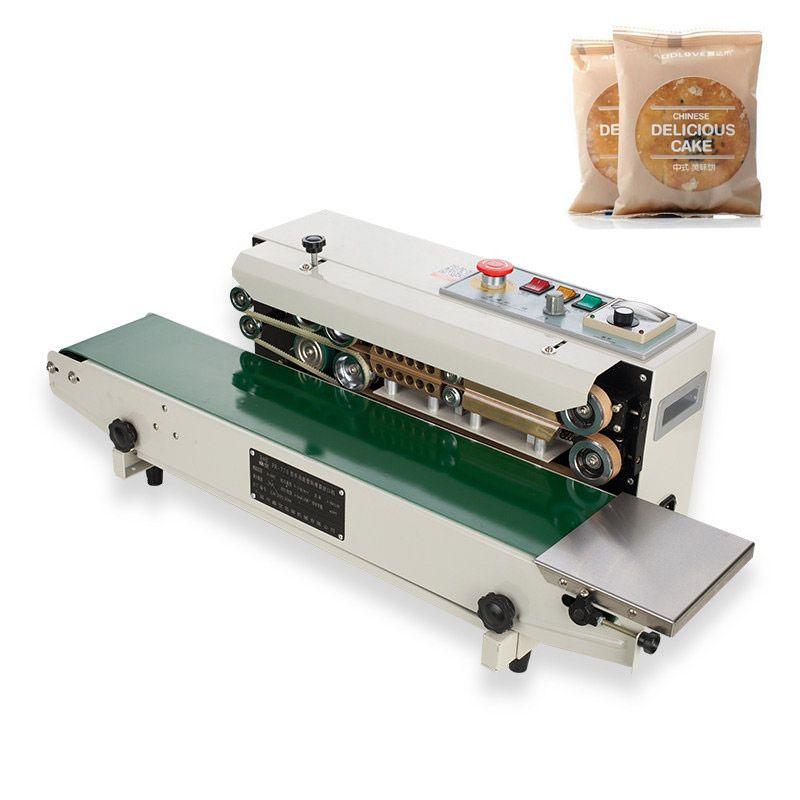 YTK FR900 Kunststoff Film Lebensmittel Abdichtung Maschine + Vertikale Abdichtung + datum druck + dichtung gürtel 220 V