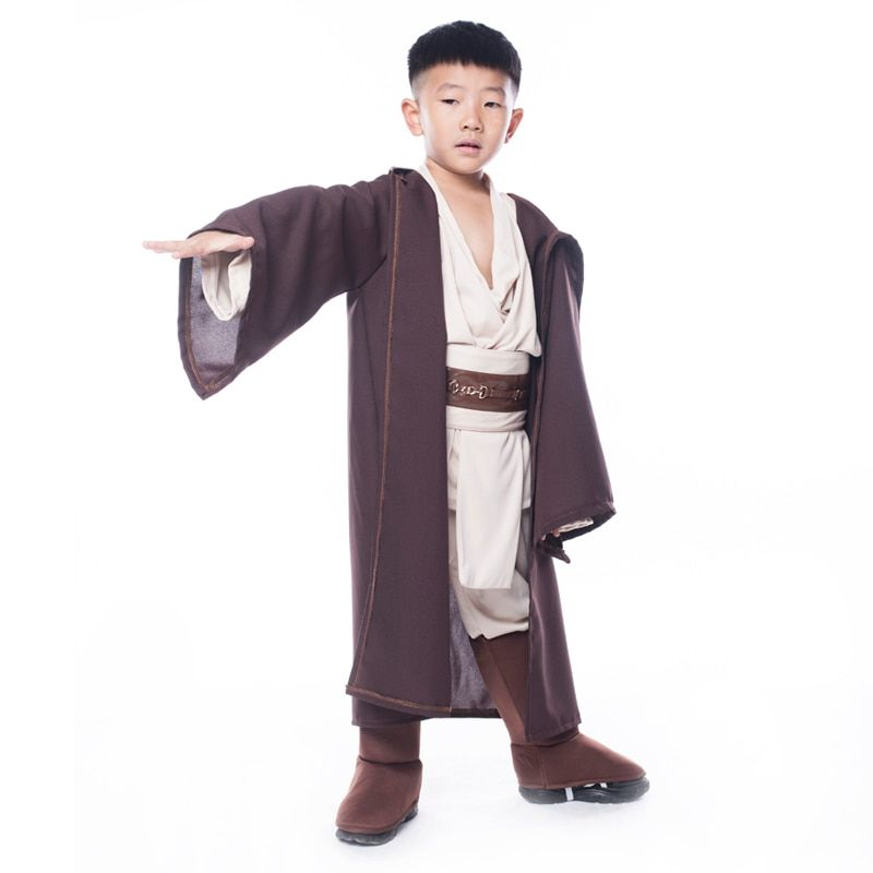 Hot Sale Boys <font><b>Star</b></font> Wars Deluxe Jedi Warrior Movie Character Cosplay Party Clothing Kids Fancy Halloween Purim Carnival Costumes