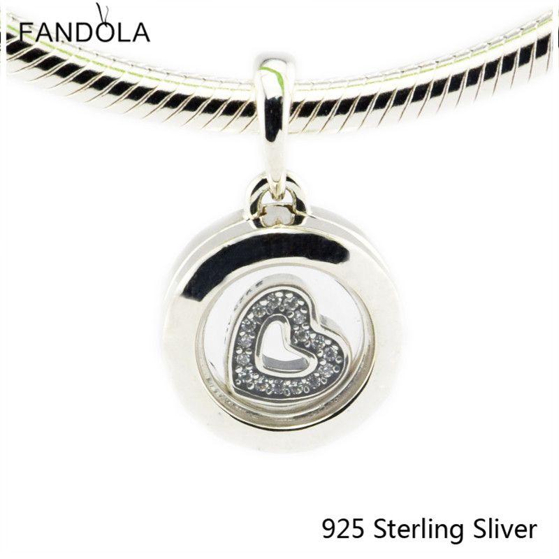 Beads Fits Pandora Bracelet 925 Sterling Silver Jewelry Floating Locket For Women Original Fashion Charms CKK