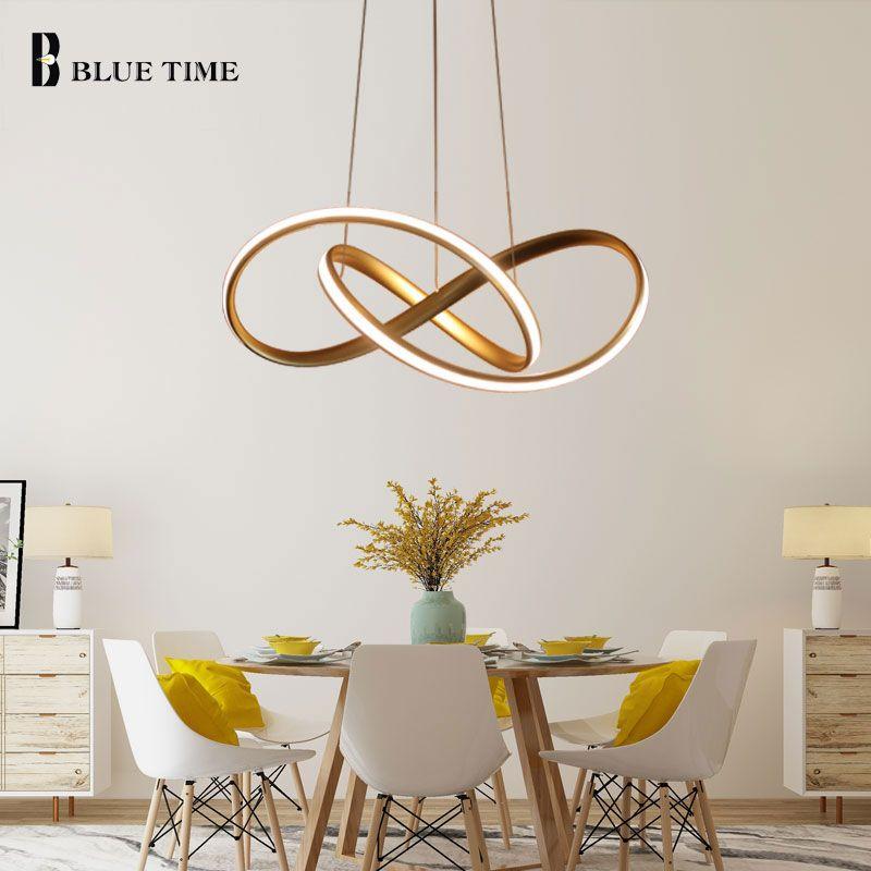 Gold&White Modern LED Pendant Light For Living room Bedroom Dining Room Hanging Lamp LED Pendant Lamp Indoor Lighting Luminares