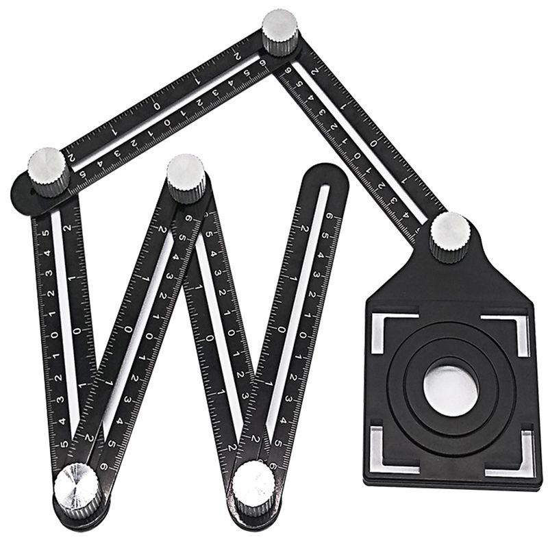 Multi Winkel Messen Lineal Aluminium Klapp Positionierung Herrscher Mit Metall Schrauben Für Professionelle DIY Holz Fliesen Boden Werkzeug