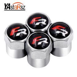 4 unids/lote coche rueda Válvulas neumático casquillos de aire para seat leon FR Ibiza Altea Exeo formula accesorios car styling