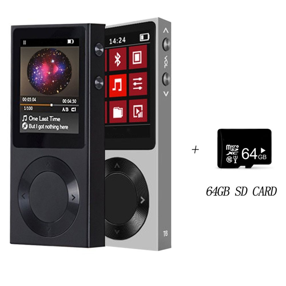 Original BENJIE Bluetooth MP3 Player Support 256G external storage Full Zinc Alloy Lossless MP3 Music Player free sd card T6