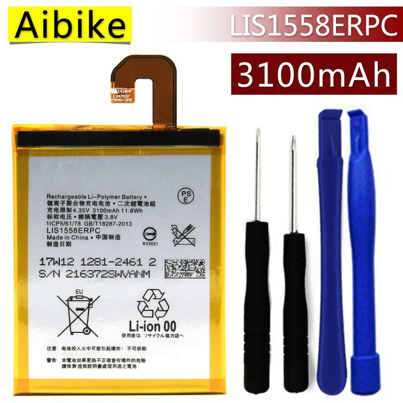 LIS1558ERPC Aibike Nueva batería original del teléfono móvil Para Sony Xperia Z3 L55T D6653 D6633 D6603 D5803 D5833 Batería 3100 mAh Real