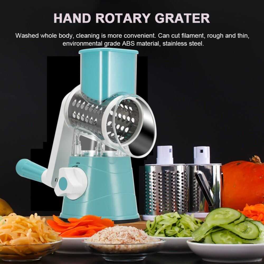 Hot New Multifunction Chopper Manual Rotating Grater Vegetable Fruit Cutter Kitchen Gadgets Tools Hogard ST27