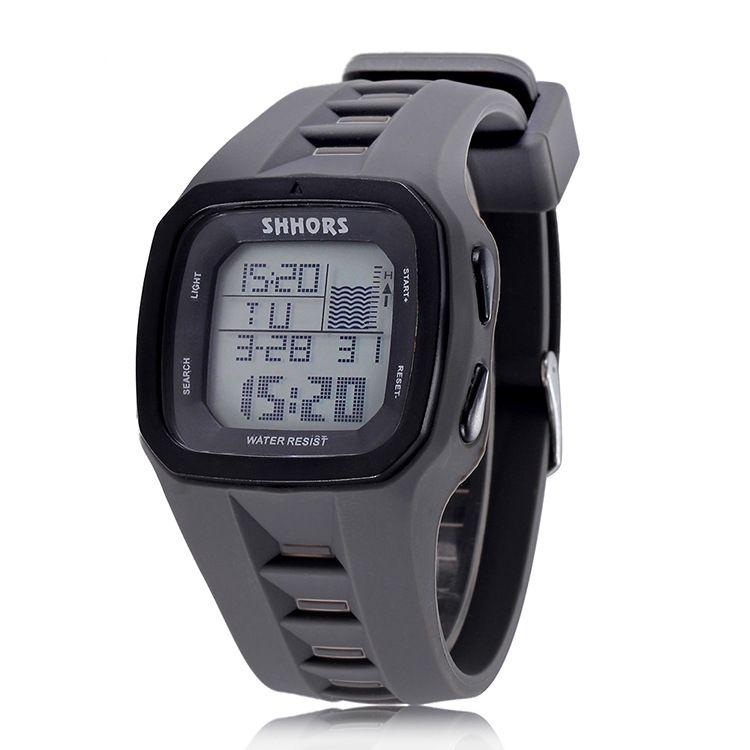 Shhors marque Sport montre numérique hommes Silicone montres LED montre-bracelet électronique étanche horloge Silicone armée Reloj Hombre 2017